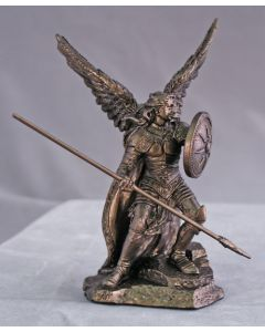 Archangel Raphael, Cold Cast Bronze 4""
