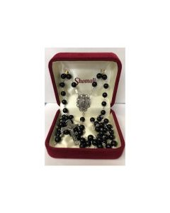Rosary Black with Relic in Crucifix