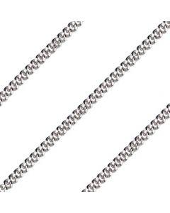 24 inch Rhodium Curb Endless Chain