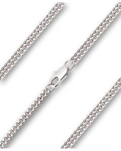 """Chain 24"""" Rhodium Curb with Lobster Claw Clasp"""