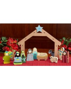 Children's Nativity Wood