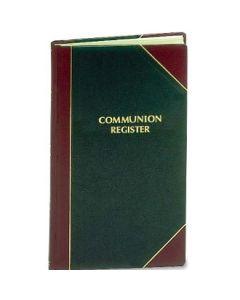Communion Record Book Lg