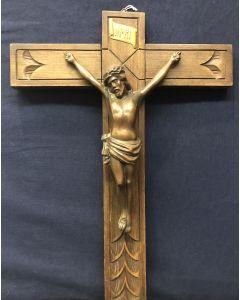 Vintage Crucifix with Brass Corpus