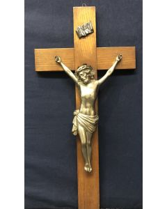 Vintage Crucifix with Pewter Corpus