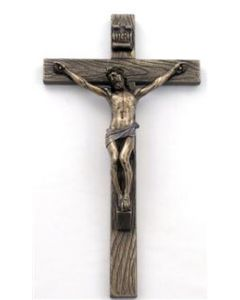 """Crucifix, Cold-Cast Bronze 10"""""""