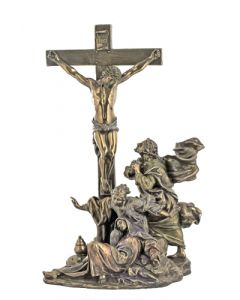 Crucifixion Masterpiece, Cold-Cast Bronze