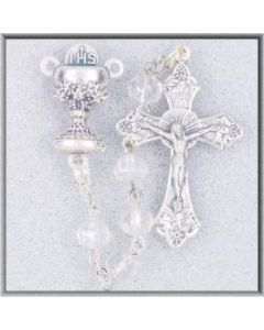 Crystal 1st Communion Rosary