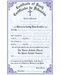 Certificate of Death Bilingual