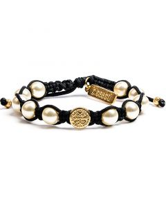 St. Benedict Pearl Divine Blessing Bracelet