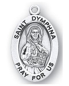 St. Dymphna SS medal oval
