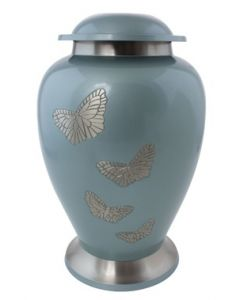 Brass Urn with Butterfly motif
