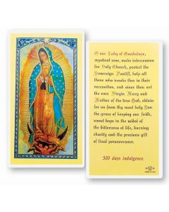 OUR LADY OF GUADALUPE HOLY CARD