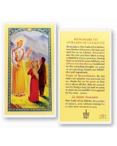 Our Lady of Lasalette Holy Card