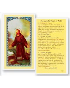 Novena to St. Francis Holy Card
