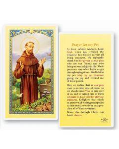 St.Francis Holy Card