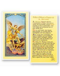 Policeman's Prayer, St. Michael Holy Card