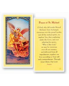 Prayer to St. Michael Holy Card