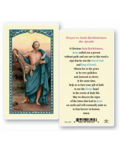 St. Bartholomew Holy Card