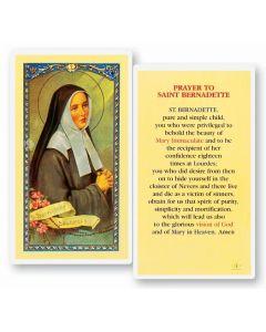 St. Bernadette Holy Card