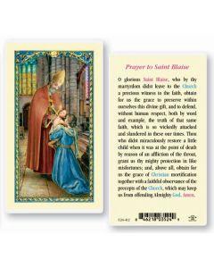 St. Blaise Holy Card