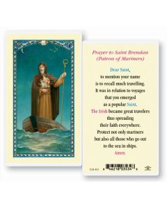 St. Brendan Holy Card