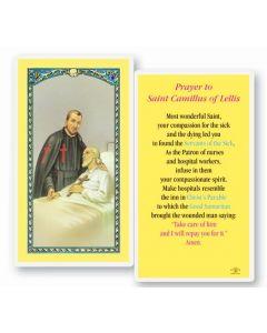 St. Camillus Holy Card