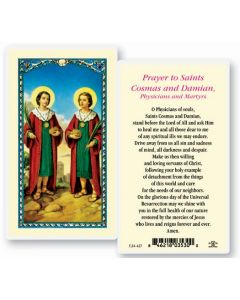 Sts. Cosmos and Damian Holy Card