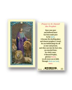 St. Daniel Holy Card