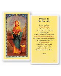 St. Dorothy Holy Card