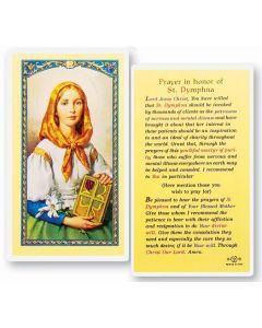 St. Dymphna Holy Card
