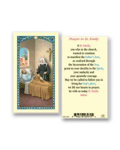 St. Emily Holy Card