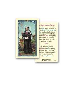 St. Gertrude Holy Card