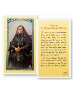 St. Francis Cabrini Holy Card