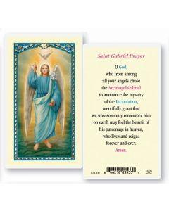 St. Gabriel Holy Card
