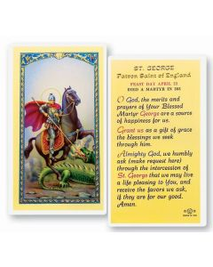 St. George Holy Card