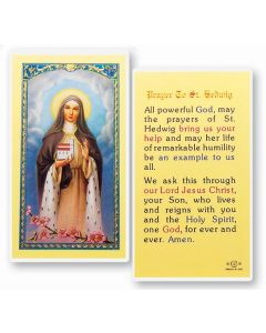 St. Hedwig Holy Card