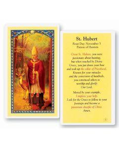 St. Hurbert Holy Card