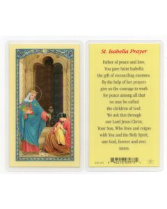 St. Isabella Holy Card