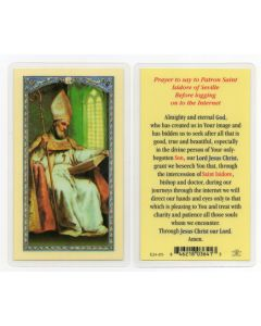 St. Isidore, Internet, Holy Card