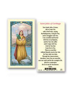 St. Julia Holy Card