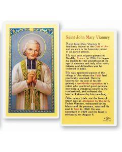 St. John Mary Vianney Holy Card