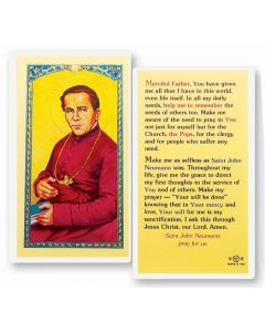 St. John Neuman Holy Card