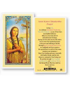 St. Kateri Tekakwitha Holy Card