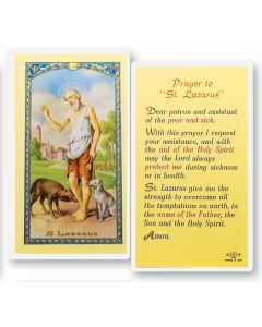 St. Lazarus Holy Card