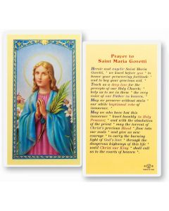 Prayer to St. Maria Goretti Holy Card