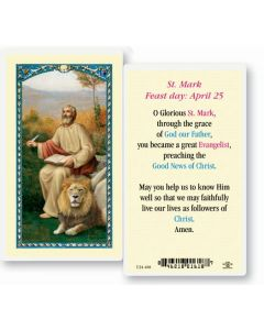 St.Mark Holy Card