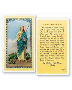 St. Martha, Novena Prayer, Holy Card