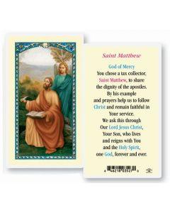 St. Matthew Holy Card