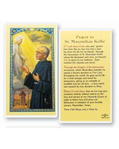 Prayer to St. Maximilian Kolbe Holy Card