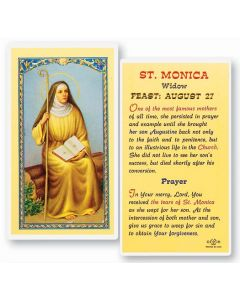 St. Monica Holy Card
